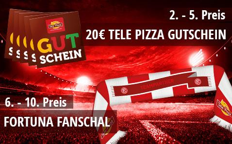 tolle Preise von Tele Pizza und Fortuna Düsseldorf