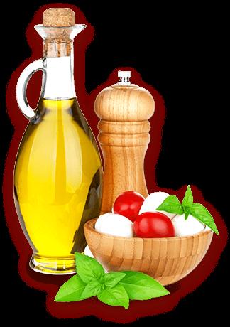 Mozzaralle Olivenöl Tomaten