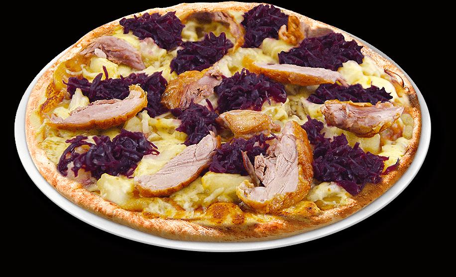 Pizza Knusperente