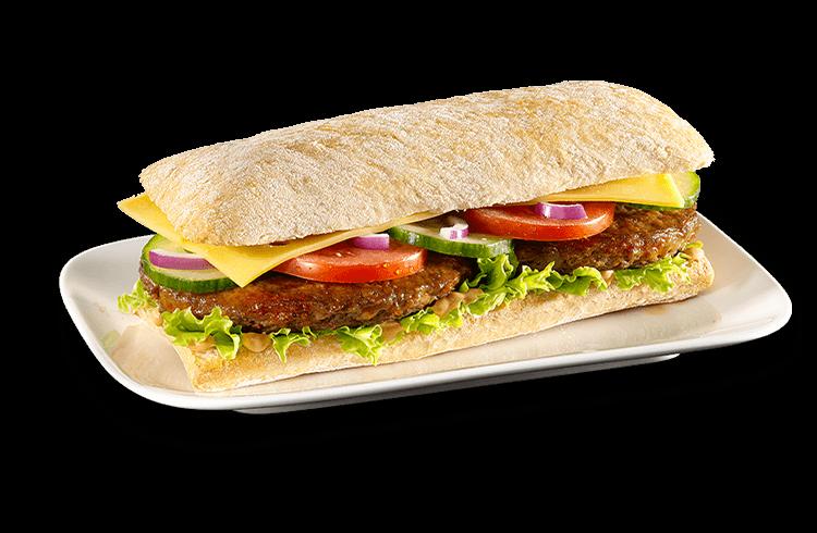 Baguette Cheeseburger