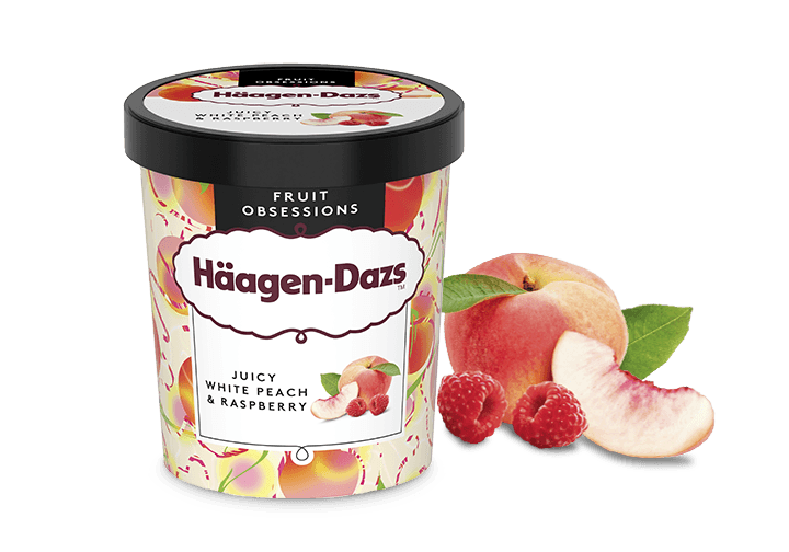Häagen-Dazs Juicy White Peach and Raspberry