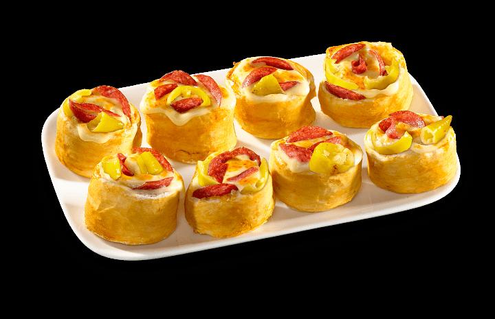 Pizza-Brötchen Diabolo
