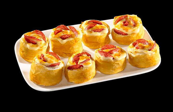 Pizza-Brötchen Salami